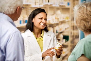 photo of people in a pharmacy